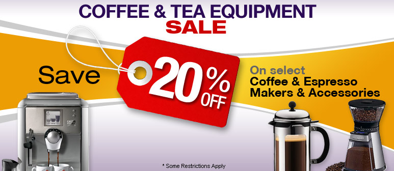 Coffee & Espresso Equipment & Accessory Sale - Save up to 20%