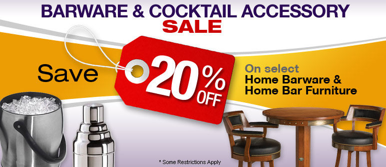 Barware & Cocktail Accessory Sale - Save up to 20%