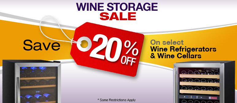 Wine Storage Sale - Save up to 20%